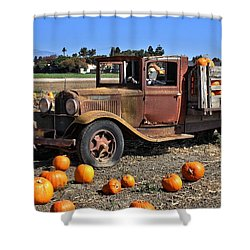 Shower Curtain featuring the photograph One More Pumpkin by Michael Gordon
