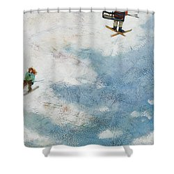 One More Run Shower Curtain by Jen Norton