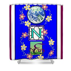 Shower Curtain featuring the digital art Universal One-ness by Bobbee Rickard