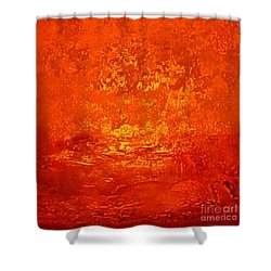 One Night In Old Shanghai By Rjfxx.-original Minimalist Abstract Art Painting Shower Curtain by RjFxx at beautifullart com