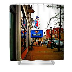 One Of Ten Great Streets Shower Curtain by Kelly Awad
