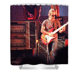 Shower Curtain featuring the photograph One Of The Greatest Guitar Player Ever by Aaron Martens