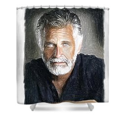 One Of The Most Interesting Man In The World Shower Curtain by Angela A Stanton