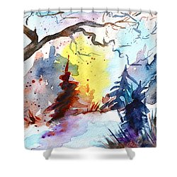 One Of These Mornings Shower Curtain