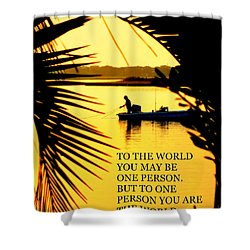 One Person Shower Curtain by Karen Wiles