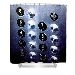One Please... Shower Curtain by Trish Mistric