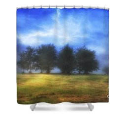 One September Morning Shower Curtain by Veikko Suikkanen