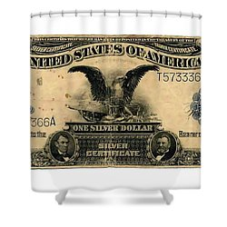 One Silver Dollar Shower Curtain by Lanjee Chee