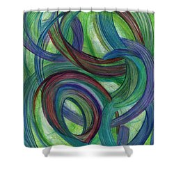One Stupendous Whole Shower Curtain by Kelly K H B
