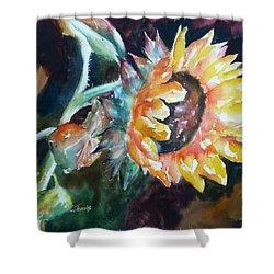 One Sunflower Shower Curtain