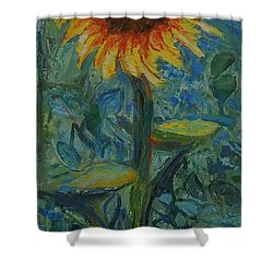 One Sunflower - Sold Shower Curtain