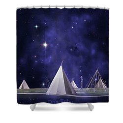 One Tribe Shower Curtain by Laura Fasulo