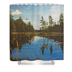 O'neal Lake Shower Curtain by Wendy Shoults