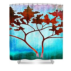 Oneness Shower Curtain by Jaison Cianelli