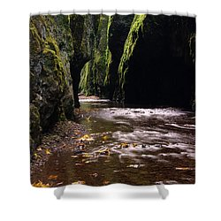 Onieata Gorge Shower Curtain by Jeff Swan