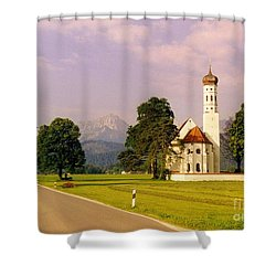Onion Dome Church Shower Curtain by John Malone