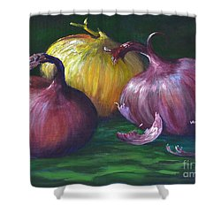 Onions Shower Curtain by AnnaJo Vahle