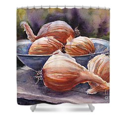 Onions Shower Curtain by Mohamed Hirji