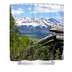 Only The Structures Crumble Shower Curtain