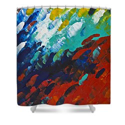 Only Till Eternity 1st Panel Shower Curtain by Sharon Cummings