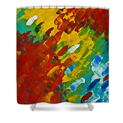 Only Till Eternity 2nd Panel Shower Curtain by Sharon Cummings