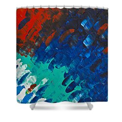 Only Till Eternity 3rd Panel Shower Curtain by Sharon Cummings