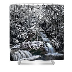 Onomea Falls In Infrared 2 Shower Curtain