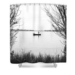 Ontario Fishing Trip Shower Curtain by Valentino Visentini