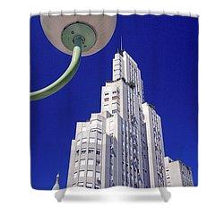 Shower Curtain featuring the photograph Onyric City by Bernardo Galmarini