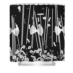 Oodles Of Noodles #1 Shower Curtain by Robert ONeil