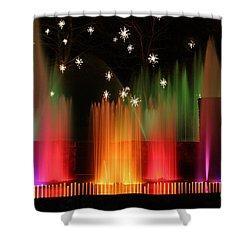 Open Air Theatre Rainbow Fountain Shower Curtain