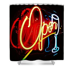 Shower Curtain featuring the photograph Open by Daniel Thompson