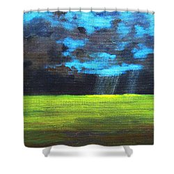 Open Field IIi Shower Curtain