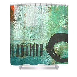 Open Gate- Contemporary Abstract Painting Shower Curtain by Linda Woods
