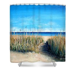 Open Invitation Shower Curtain