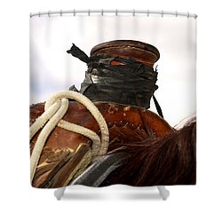 Open Range Saddle Shower Curtain