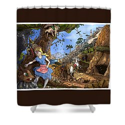 Shower Curtain featuring the painting Open Sesame by Reynold Jay