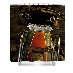 Open The Garage Door And Let Me Go  Shower Curtain by Wilma  Birdwell
