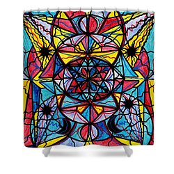 Open To The Joy Of Being Here Shower Curtain by Teal Eye  Print Store