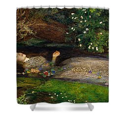 Ophelia  Shower Curtain by John Everett Millais