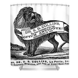Opium Antidote, 1876 Shower Curtain by Granger