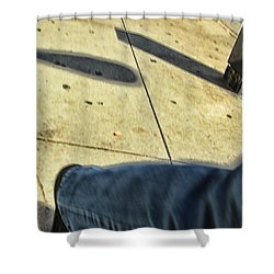 Opposite Direction Shower Curtain by Karol Livote