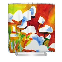 Opposites Attract Shower Curtain by Kathy Braud