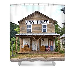 Shower Curtain featuring the photograph Opry House - Square by Gordon Elwell