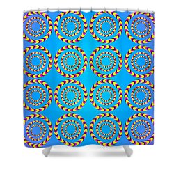 Optical Illusion Spinning Wheels Shower Curtain
