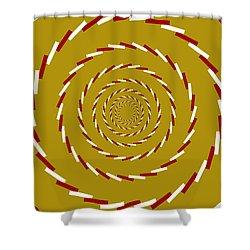 Optical Illusion Whirlpool Shower Curtain