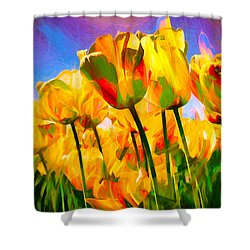 Shower Curtain featuring the digital art Optimism by Pennie  McCracken