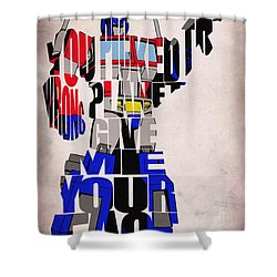Optimus Prime Shower Curtain by Ayse and Deniz