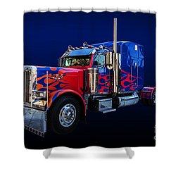 Optimus Prime Blue Shower Curtain
