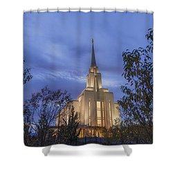 Oquirrh Mountain Temple II Shower Curtain